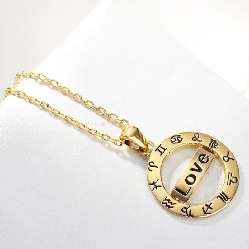 Women's Plated Zodiac Love Necklaces - Bestshopup
