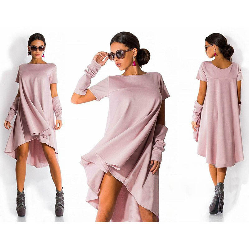 Women's Midi Tunic Boho Dress - Bestshopup