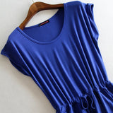 Women's Casual Stripped Sleeveless Dress - Bestshopup