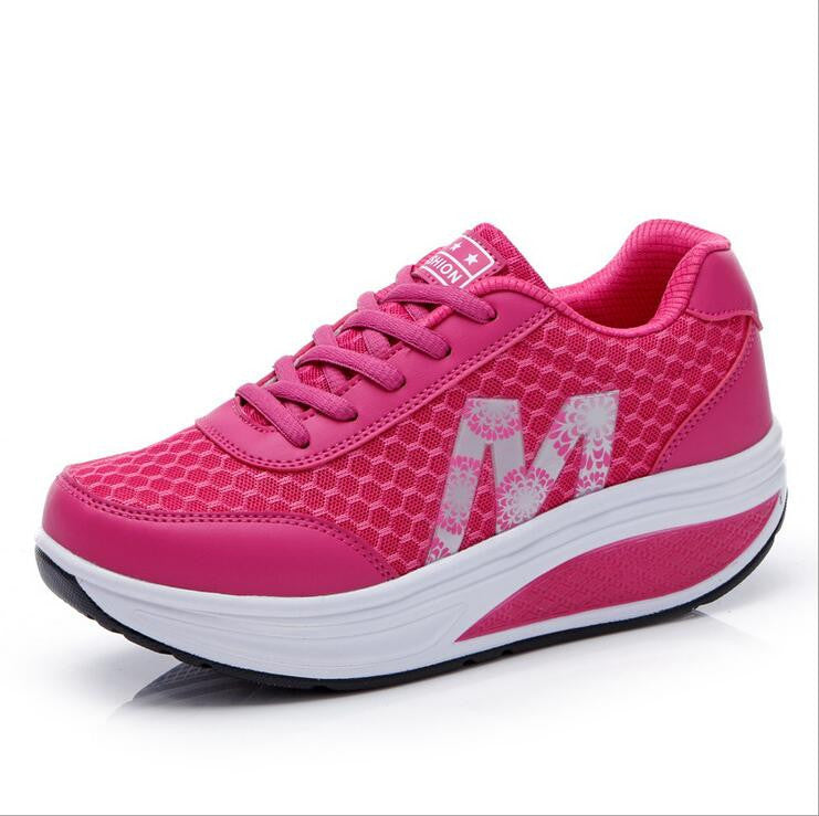 Women's Casual Breathable Flat Running Shoes - Bestshopup