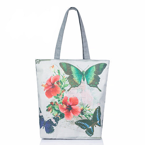 Women's Canvas Lips Printed Canvas Large Capacity Tote - Bestshopup