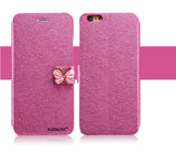 Butterfly Built-In Card Slot Silk Pattern Flip Phone Case - Bestshopup