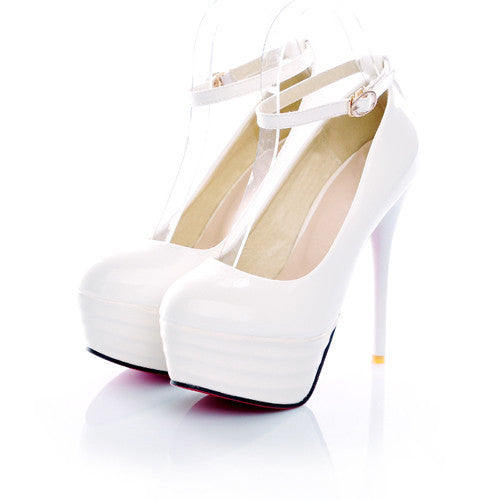 Women's Simple Round Toe High Heels - Bestshopup