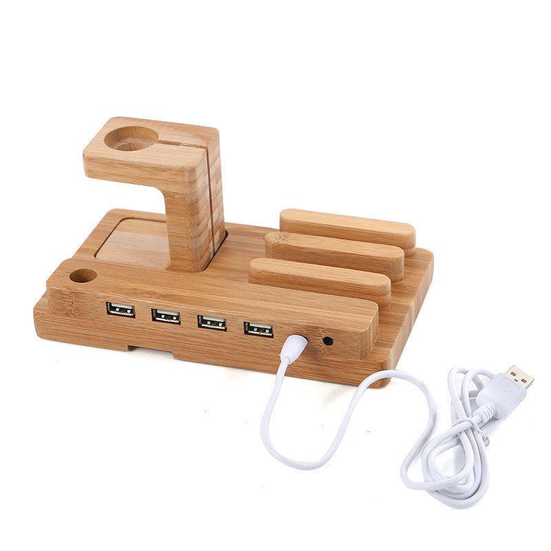 Latest Multi Functional Real Bamboo Wood Universal Charging Stand/Holder - Bestshopup
