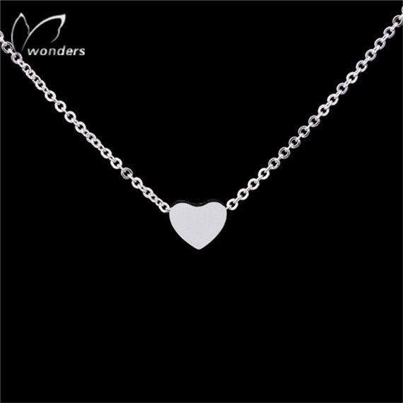 Women's Ketting Thick Tiny Love Heart Necklace - Bestshopup