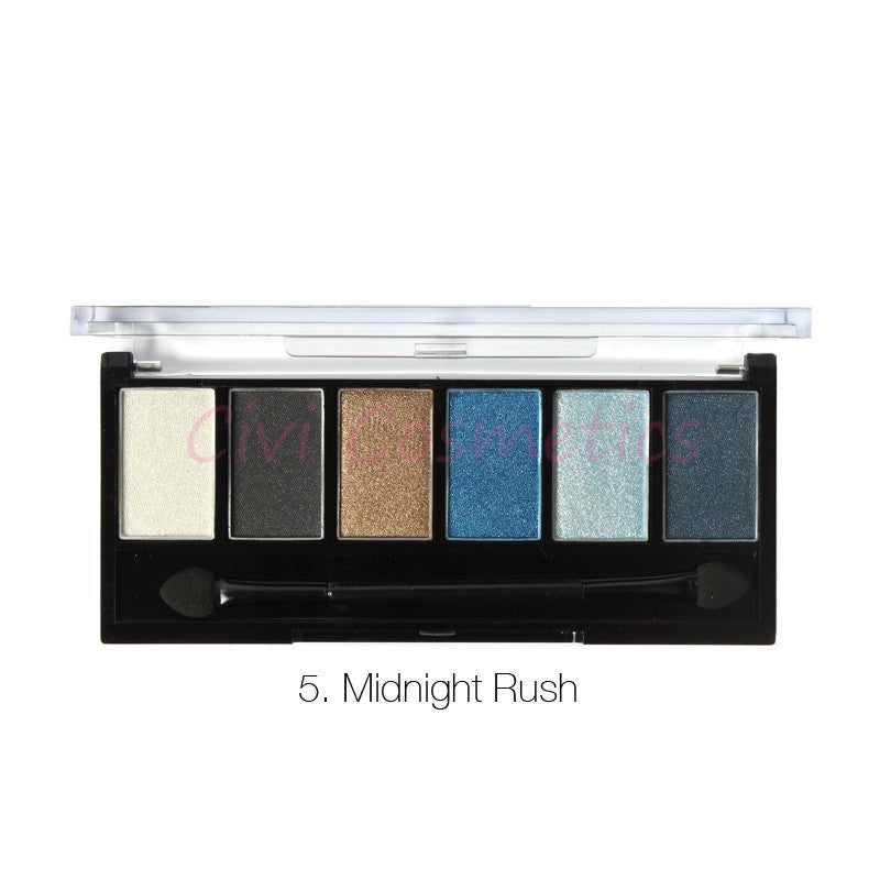 6 Colors Eyeshadow Palette Glamorous Smokey Eye Shadow Makeup Makeup Kit - Bestshopup