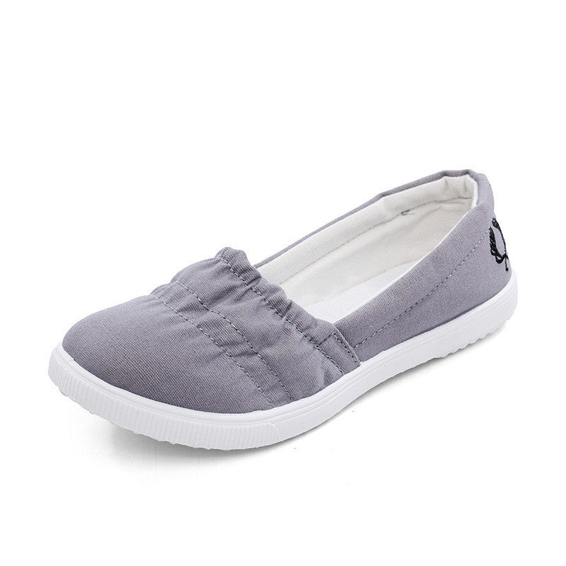 Women's Soft Slip On Canvas Flats - Bestshopup