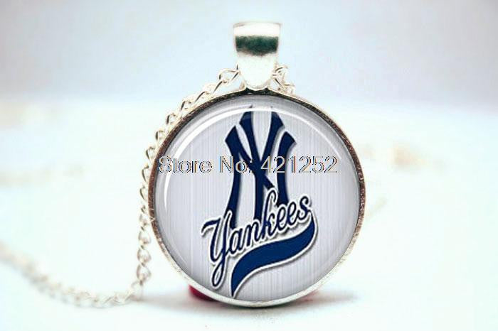 Cuff Links- NY Yankees Glass Photo Cabochon Necklace - Bestshopup