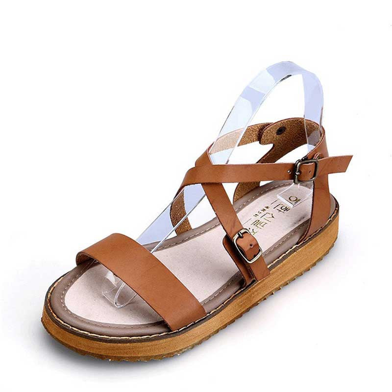 Women's Buckle Strap Small Platform Sandals - Bestshopup