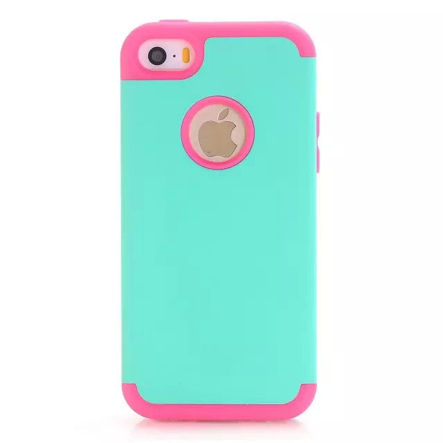 3-in-1 Impact Hard & Soft Silicone Hybrid Case for Apple iPhone - Bestshopup