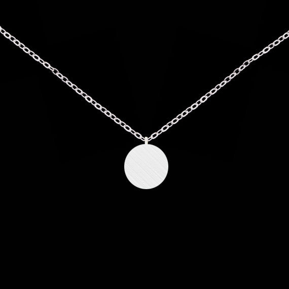 Women's Stainless Steel Silver Gold Circle Plated Colar Simple Necklace - Bestshopup