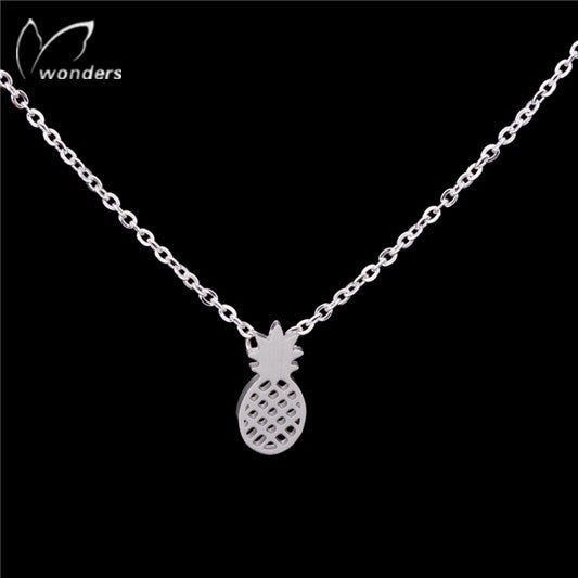 Women's Stainless Steel Simple Pinneapple Necklaces - Bestshopup