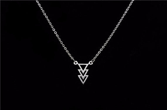 Women's Triple Chevron Triangle Necklaces - Bestshopup