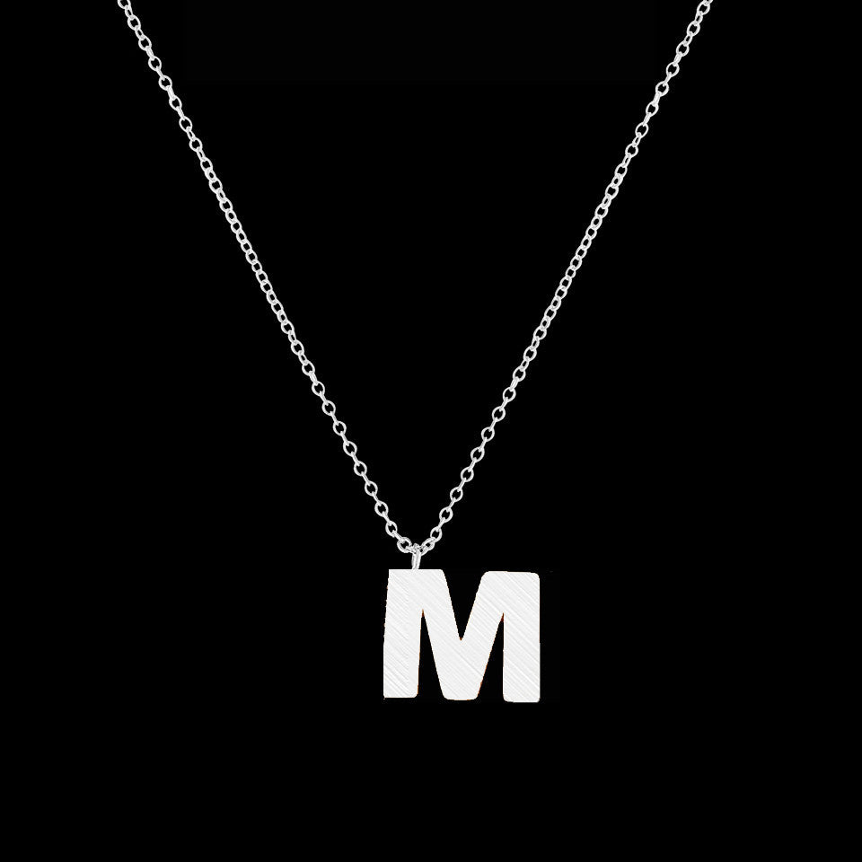 Women's Stainless Steel Initial Alphabet M Letter Necklace - Bestshopup