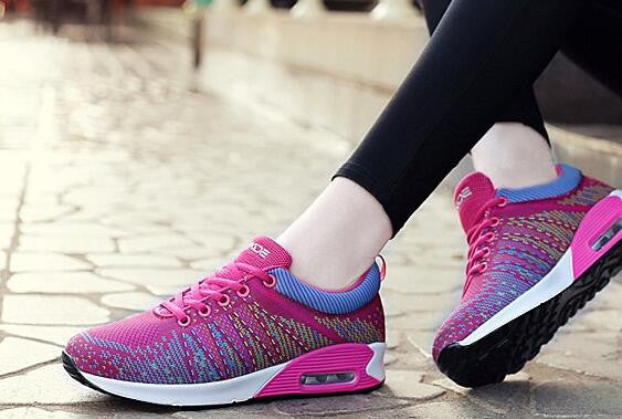 Fashion flat Running Shoes Air Mesh Breathable Women Sports - Bestshopup