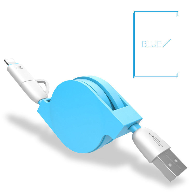100cm 2 in 1 retractable USB fast charging Cable 8 pin For iPhone 5s 6 6 plus - Bestshopup
