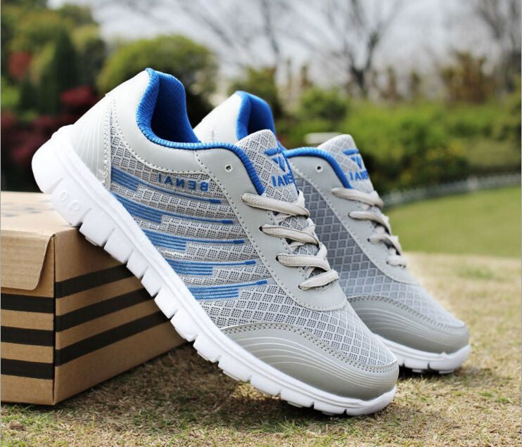Men's Breathable Mesh Casual Running Shoes Large Size 36-46 - Bestshopup