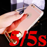 Deluxe Electroplating Mirror TPU Clear Soft Phone Case Cover for iPhone - Bestshopup