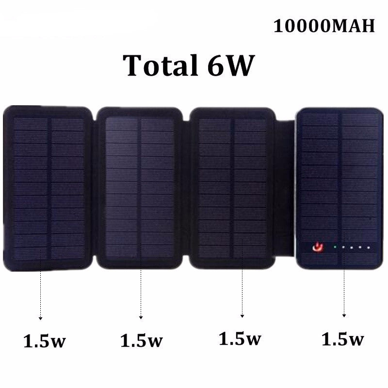 100% Original High Capacity Solar Charger Dual USB DC5V 2.1A  Portable Charger - Bestshopup