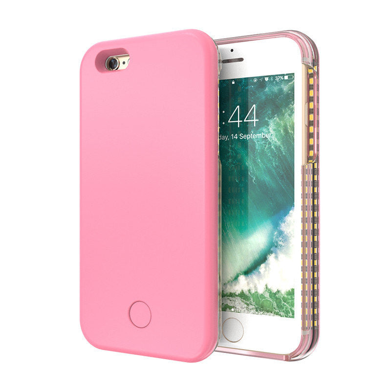 Illuminated Selfie Hard Cover Case with LED for iPhone 6/6s/6 Plus Light Up Selfies Cases - Bestshopup