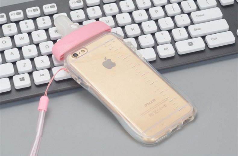 Baby Nipple Bottle Clear Silicone TPU iPhone Cases - Bestshopup
