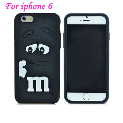 Silicon 3D M&M Chocolate Case For iphone - Bestshopup