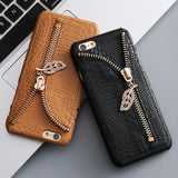 Zipper Zip Retro Leather Case - Bestshopup