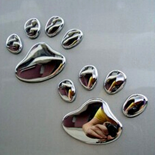 AmericanInfinity Paw Print Car Decal