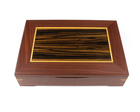 Wooden Document Box handcrafted from Jarrah & Macassar Ebony veneer