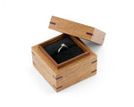 Wooden Proposal Ring Box handcrafted from reclaimed Meranti and Tasmanian Blackwood