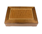 Wooden Document Box handcrafted from Tasmanian Blackwood & Silky Oak veneer