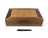 Wooden Document Box handcrafted from Tasmanian Blackwood & Maple Burl veneer