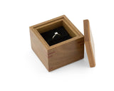 Wooden Proposal Ring Box handcrafted from Spotted Gum