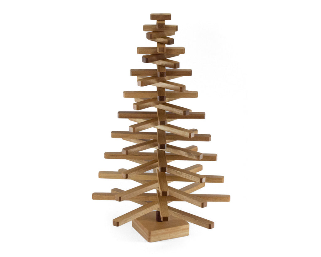 Small Wooden Christmas Tree With Storage Box Warawood Shed