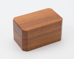 The Elegance wooden double ring box handcrafted from NSW Rosewood