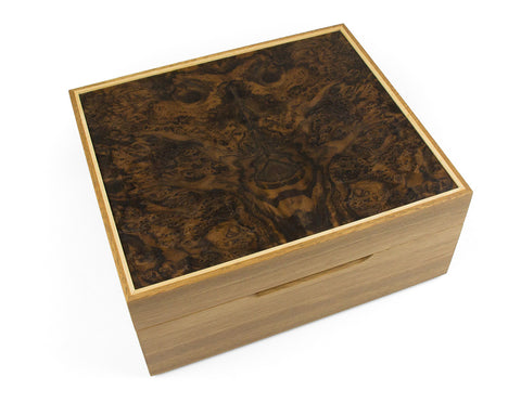 Watch box handcrafted from Spotted Gum