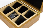 Spotted Gum and Macassar Ebony Watch Box