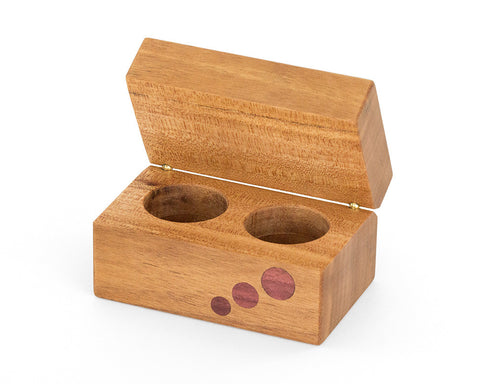 The wooden double ring box handcrafted from Queensland Maple