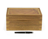 Jewellery Box handcrafted from Spotted Gum and Tasmanian Oak