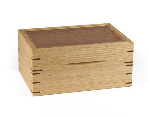 Jewellery Box handcrafted from Tasmanian Oak and Jarrah