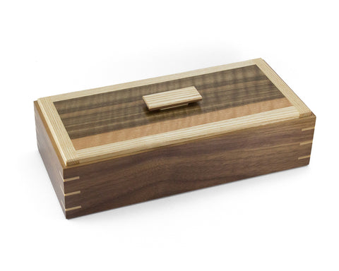Wooden Keepsake Box handcrafted from Black Walnut & White Ash