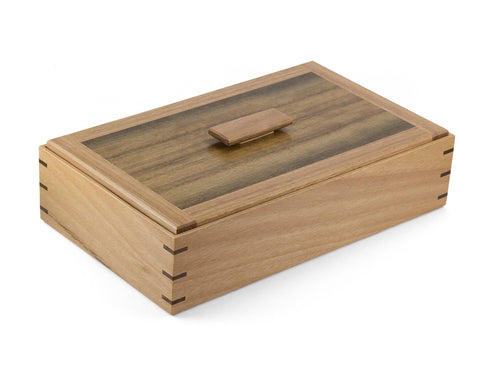Wooden Keepsake Box handcrafted from Australian Blackbutt & Queensland Walnut