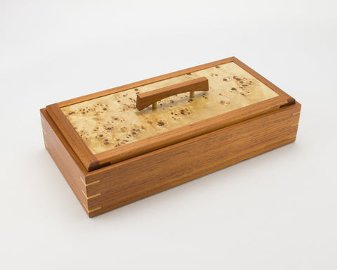 Wooden Keepsake Box handcrafted from Australian Red Cedar & Mappa Burl