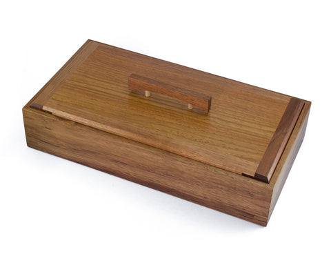Wooden Keepsake Box handcrafted from Tasmanian Blackwood & PNG Rosewood