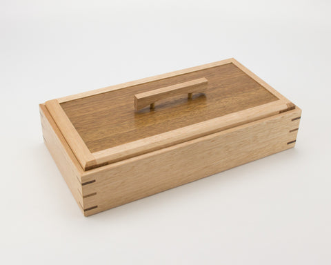 Wooden Keepsake Box handcrafted from Tasmanian Oak & Spotted Gum