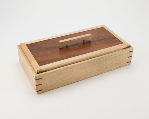 Wooden Keepsake Box handcrafted from Tasmanian Oak & Jarrah