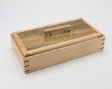 Wooden Keepsake Box handcrafted from Tasmanian Oak & Queensland Walnut