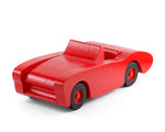 Handcrafted wooden toy car in red