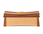 Asian inspired wooden keepsake box handcrafted from Australian Jarrah and Victorian Ash