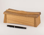 Asian inspired wooden keepsake box handcrafted from Australian Spotted Gum and Blackbutt